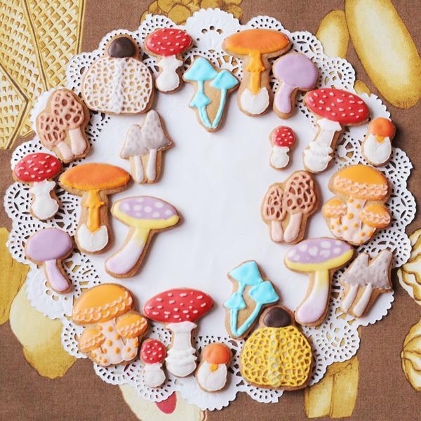 サイトに掲載されているきのこクッキー:メリリルさん